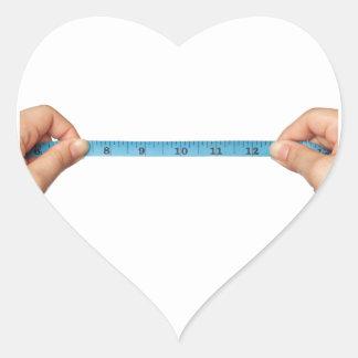 Tomar la medida pegatina en forma de corazón