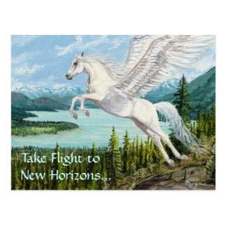 Tomar la postal de la fantasía del caballo de Pega