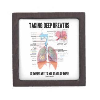 Tomar las respiraciones profundas es importante cajas de joyas de calidad