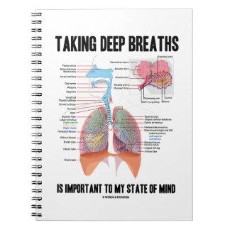 Tomar las respiraciones profundas es importante libretas espirales