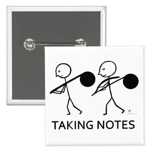 Tomar notas pins