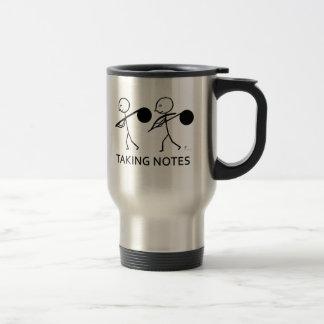 Tomar notas tazas de café