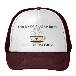 Tomar un descanso para tomar café del diseño de la gorro