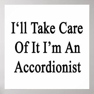 Tomaré el cuidado de él que soy acordeonista poster