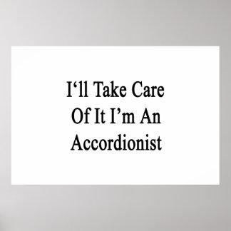 Tomaré el cuidado de él que soy acordeonista posters
