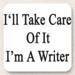 Tomaré el cuidado de él que soy escritor posavaso