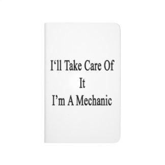 Tomaré el cuidado de él que soy mecánico cuaderno grapado