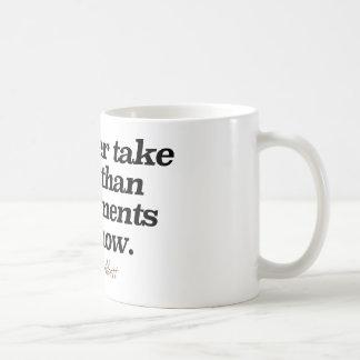 """""""Tomaría bastante el café que cumplidos ahora Taza Clásica"""