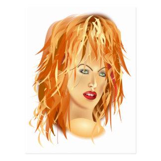 tomas_arad_portre beauty SALON HAIRSTYLES RED BLON Postcard