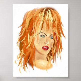 tomas_arad_portre beauty SALON HAIRSTYLES RED BLON Poster