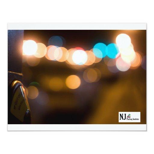 """Tomas del parquímetro de NJPI en la noche Invitación 4.25"""" X 5.5"""""""