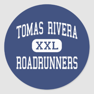 Tomas Rivera Roadrunners Middle Perris Round Sticker