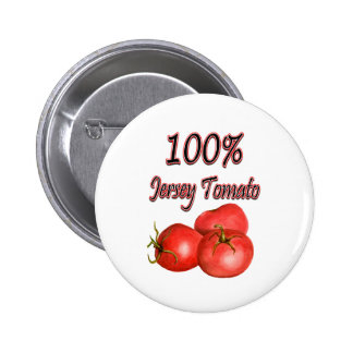 Tomate 100% del jersey pin redondo 5 cm