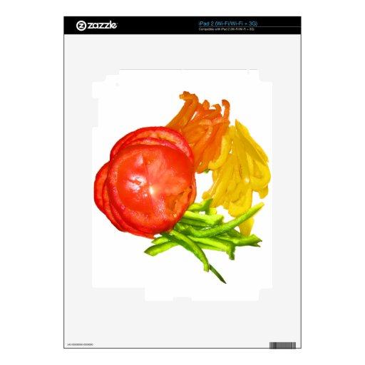 Tomate apilado con pimientas cortadas iPad 2 skins