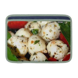 Tomate de cereza y ensalada de la mozzarella fundas macbook air