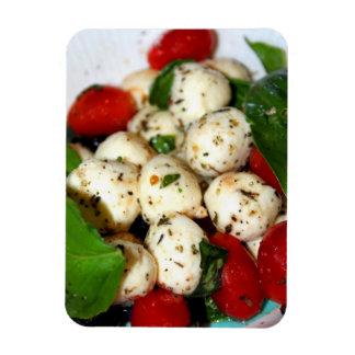 Tomate de cereza y ensalada de la mozzarella imán flexible