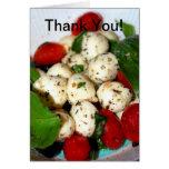 Tomate de cereza y ensalada de la mozzarella tarjeta