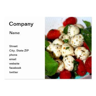 Tomate de cereza y ensalada de la mozzarella tarjetas de visita grandes
