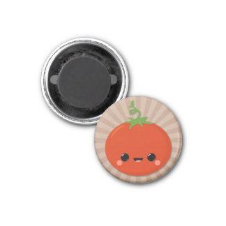 Tomate de Kawaii en Brown Starburst Imanes Para Frigoríficos