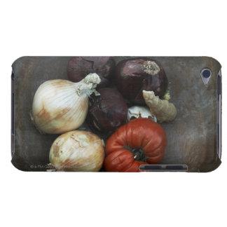 Tomate de la herencia, cebolla amarilla, cebolla r iPod touch Case-Mate funda