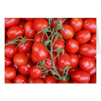 tomate de la vid tarjetón