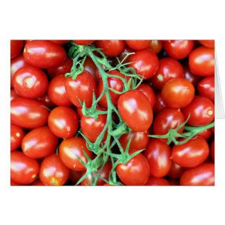 tomate de la vid tarjeta