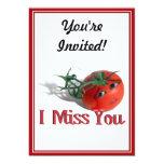 """Tomate dulce """"yo Srta. You """" Invitación 12,7 X 17,8 Cm"""
