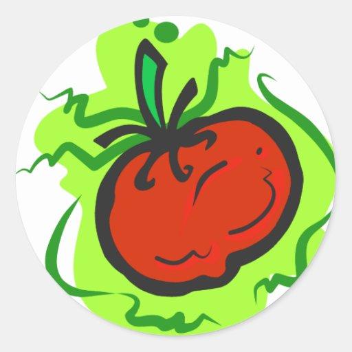 Tomate Etiquetas Redondas