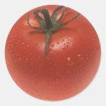 Tomate fresco etiqueta redonda