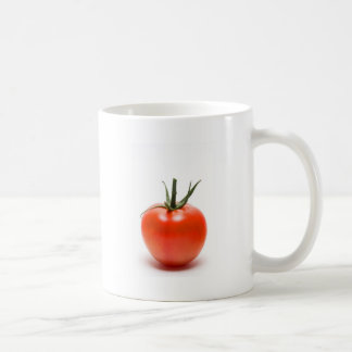 Tomate jugoso rojo grande tazas de café