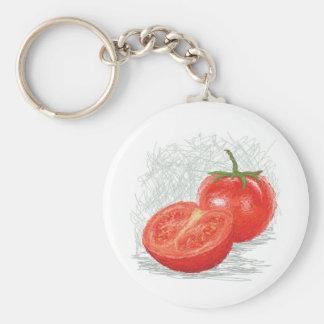 tomate llavero redondo tipo pin
