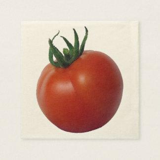 Tomate madurado vid servilletas desechables
