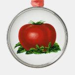 Tomate maduro rojo del vintage, legumbres de ornamento de reyes magos