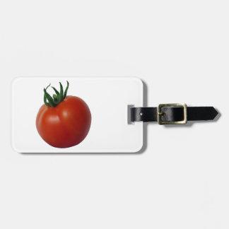 Tomate maduro rojo etiqueta para equipaje