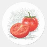 tomate pegatinas redondas