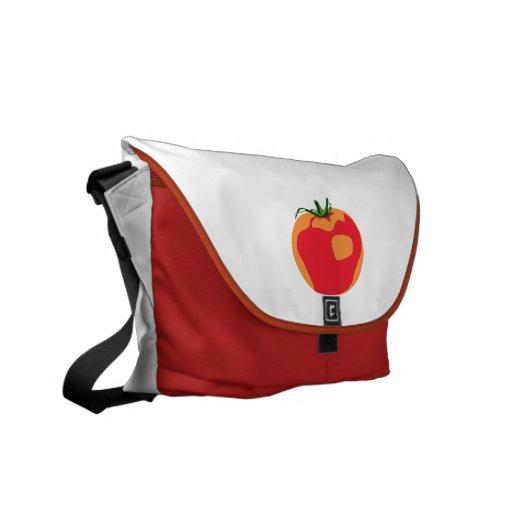 Tomate rojo grande bolsa de mensajería