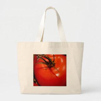 Tomate rojo maduro y preparado, delicioso bolsas de mano