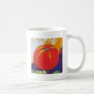 Tomate rojo taza básica blanca