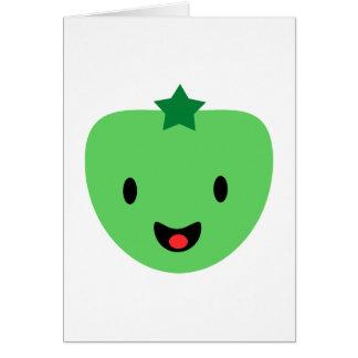 Tomate verde tarjeta