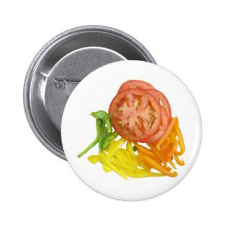 tomate y pimientas cortados pins