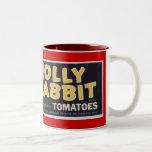 Tomates alegres del conejo tazas de café