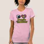 Tomates brillantes de la púrpura del amor del camisetas
