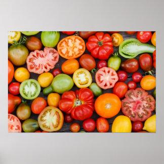 Tomates coloridos póster
