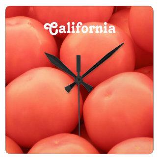 Tomates de California Reloj Cuadrado