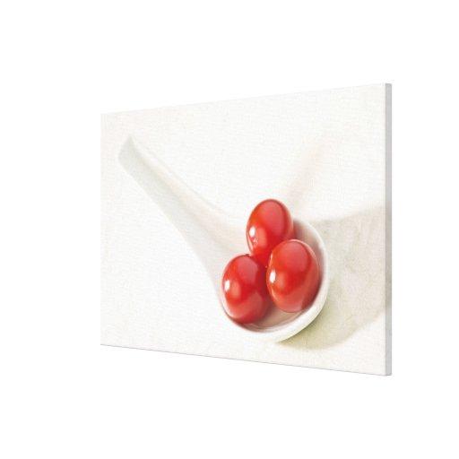 Tomates de cereza 3 impresión en lienzo estirada
