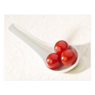 Tomates de cereza 3 postales
