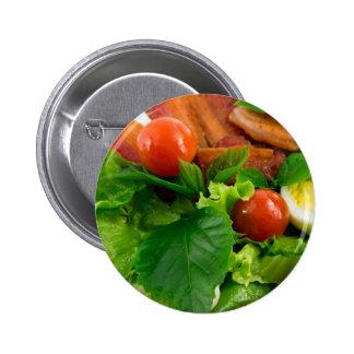 Tomates de cereza, hierbas, aceite de oliva, pin redondo de 2 pulgadas