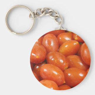 Tomates de cereza llavero redondo tipo pin