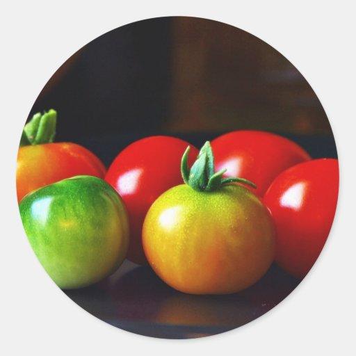 Tomates de cereza pegatinas
