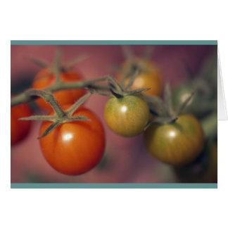 Tomates de cereza tarjeta de felicitación